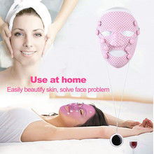 Silicone 3D Facial Mask Electric EMS Vibration Beauty Massager Skin Care Rejuvenation Anti-wrinkle Acne Removal Face Beauty Spa недорого