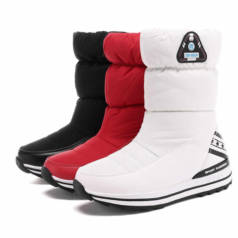 ASUMER BOYUTU 31-43 Yeni 2020 kadın kar botları platform ayakkabılar kız yarım çizmeler sıcak aşağı bayan kışlık botlar pamuklu ayakkabılar kadın