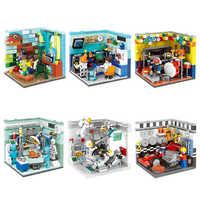 XINGBAO 01402 bloques de construcción genuinos el conjunto de la casa de estar bloques de construcción juguetes educativos compatibles con los bloques de logotipo Juguetes