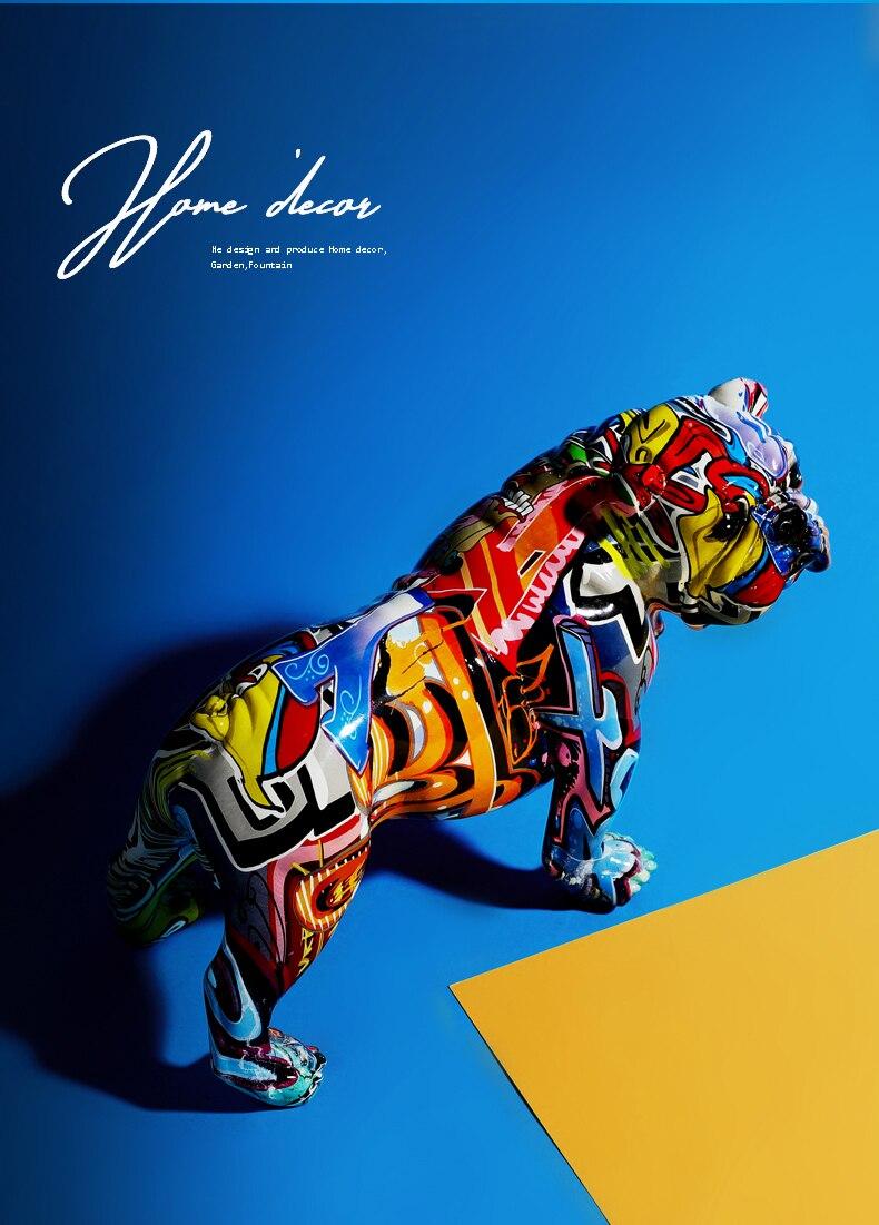 Cor escultura decoração animal resina artesanato casa