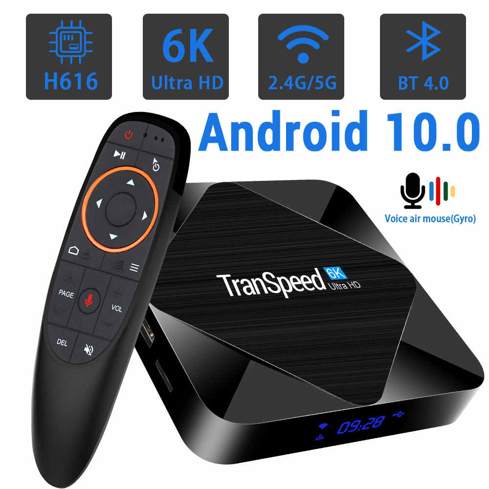 Tanspeed H616 Android 10.0 TV Box bluetooth 2.4G&5.8G Wifi 6K 3D Youtube  1080P 4K Android TV Set Top Box 4GB 64GB 32G|Set-top Boxes