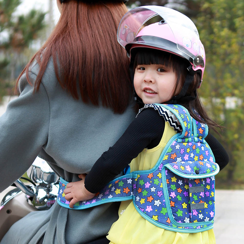 Electric Car Safety Belts Child  Motorcycle Protection Baby Bicycle Locomotive  Carrier Riding Child For Toddlers Children