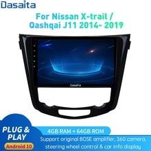 Android 10.0 Car Radio GPS Navi for Nissan X-Trail J11 Qashqai Rouge 2014 - 2019 DSP HD IPS 1280*720 Carplay 4Gb+64Gb RDS Max10