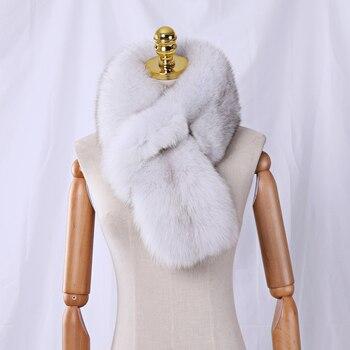 2019 nowy mody prawdziwej skóry pełna Pelt futra lisa szalik kobiety zima naturalne futro szalik szaliki szalik prawdziwe futro tłumik pani Wrap