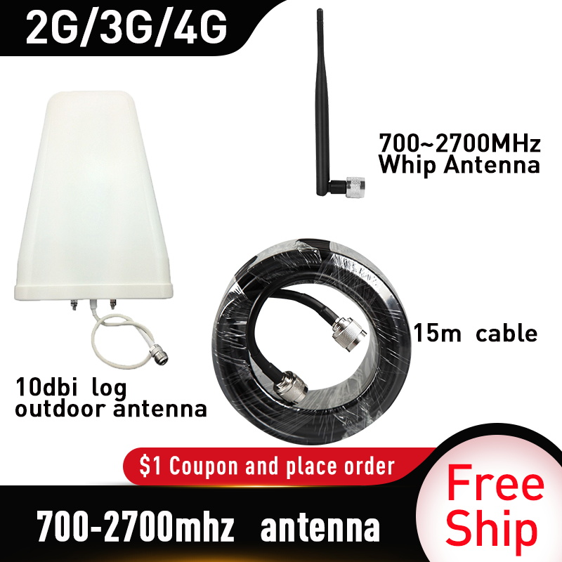 700-2700MHz  Whip  Antenna Full Set Signal Repeater Accessories For GSM UMTS DCS PCS 3G 4G LTE Mobile Signal Booster