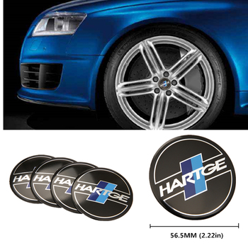 56.5mm Aluminum Car Wheel Center Hub Cap Sticker For BMW HARTGE Logo E46 E39 E36 E90 E60 F10 F30 X5 E53 E34 E30 F20 X5 E70 E38 image
