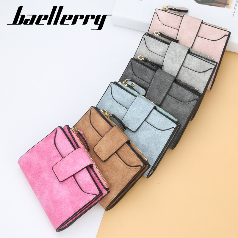 2020 Baellery Leather Women Wallet Hasp Small And Slim Coin Pocket Purse Women Wallets Cards Holders Luxury Brand Wallets Design