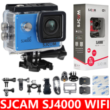 オリジナル SJCAM SJ4000 WiFi アクションカメラ 2.0 インチ液晶画面 1080 1080P HD ダイビング 30 メートル防水ミニビデオカメラ SJ 4000 カムスポーツ DV