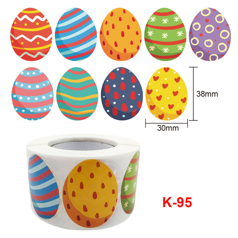 500pcs Happy EasterEggs Thank you Stickers Gift Sealing Washi tape sticker rolls for packging decoration thanks label set