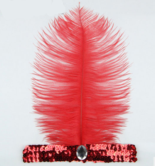 Feather Headbands Flapper Sequin Charleston Dress Accessories Costume Hairband Headpiece Women Ladies Fashion Party Jewelry
