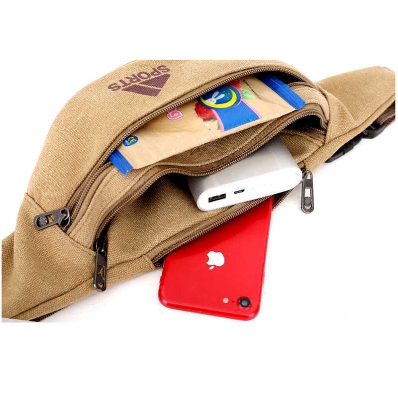 Wallet Men New Style Canvas Outdoor Sports Anti-Theft Riding Stall Cash Storage Change Apple Mobile Phone Waist Bag