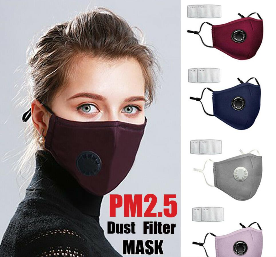 PM2.5 Filter Adults Dust Mask Face Mouth Washable Mask Reusable Mask Face Protection Cover Anti Saliva Splash Protective Mask