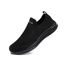 Shoes Men Sneakers Men Comfortable Flyknit Slip On Casual Lazy Shoes