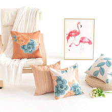 Fashion Countryside Flowers Pillow Cover Peony Printing Art Throw Cushion Sofa Bedside Home Decor Pillowcase Drop Shipping