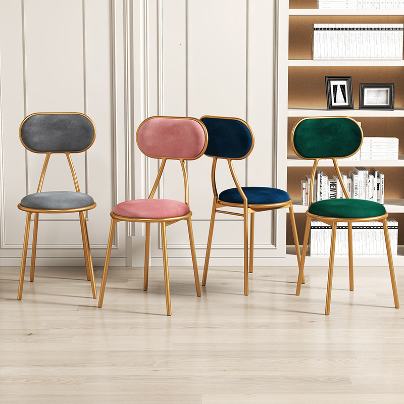 Light Extravagant Dining Chairs For Sale Modern Restaurant Chairs Nordic Cafe Chair Simplicity Living Room Furniture Pink