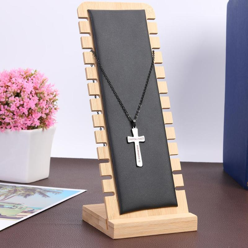 Wooden Jewelry Collection Display Necklace Earrings Bracelets Rings Storage Display Bracket Holder Rack Stand Necklace Organizer Jewelry Tools Equipments Aliexpress