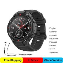 Amazfit relógio inteligente huami t-rex smartwatch amoled tela masculino feminino esporte wearable relógios inteligentes globo versão 100% original