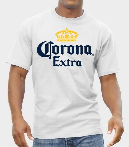 Corona Extra Mexican Lager - Beer Logo T-Shirt Men Shirt Grey White S-Xxl Streetwear Casual Tee Shirt