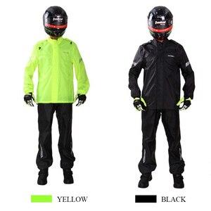 Image 2 - Waterdichte Motorrijder Regenjas Pak Voor Volwassenen Ondoordringbare Heren Motorrijden Wandelen Vissen Regendicht Ultradunne Jacket