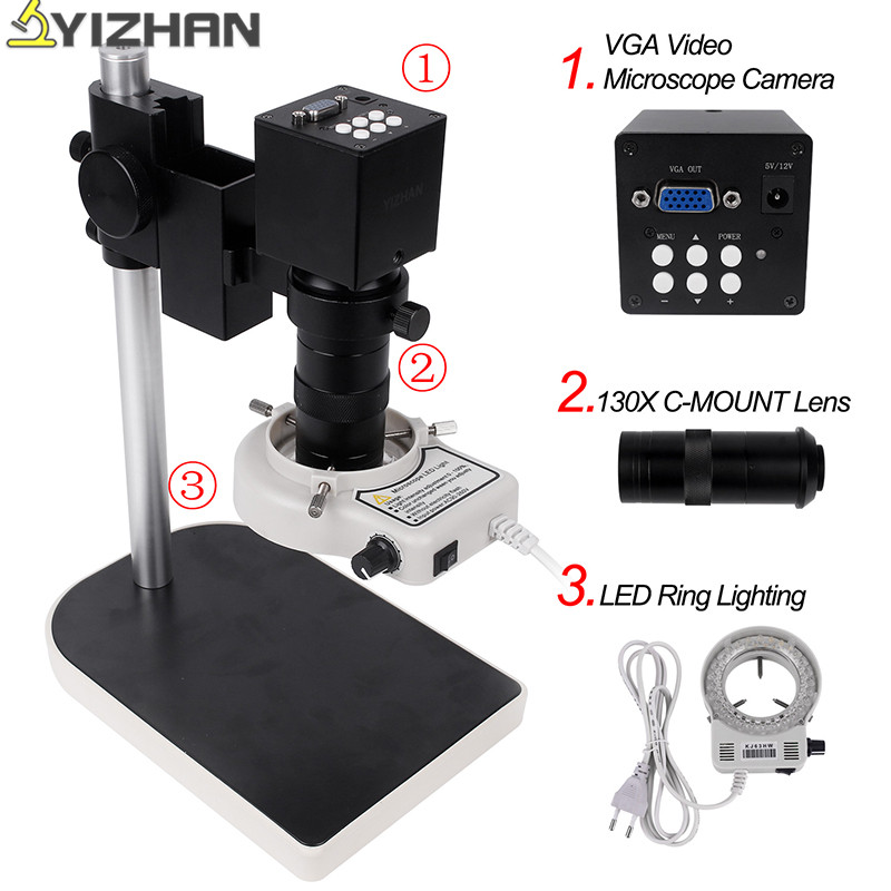 Microscope Camera 21mp Professional Adjustable Microscope Integrated Machine Industrial Microscope Set 100-240V US