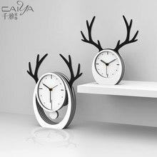 Luxury European Mute Table Clock Wooden Hangable Bell Standing Electronic Desk Digital Clock Table Masa Saati Home Decor EK50TC