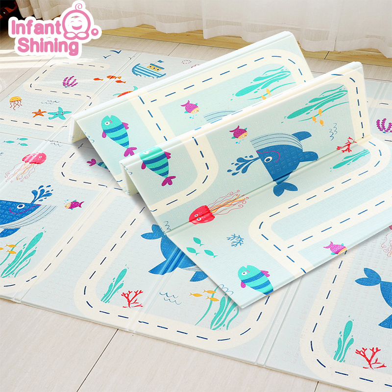 Infant Shining Playmat Baby Carpet for Infants Soft Mat Children Play Mat Puzzle Foam Rug 180