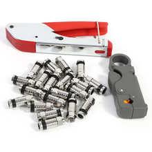 Регулируемый инструмент сжатия для RG59 RG6 BNC RCA разъем коаксиальный обжим F Тип