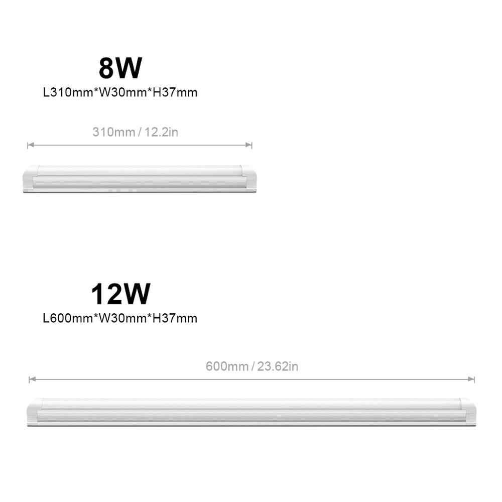220V светодиодный ламповый светильник T5 6W 10 W/T8 8W 12W Светодиодный светильник для шкафа ПВХ пластиковые флуоресцентные, светодиодные лампы бар T5 T8 свет шкаф кухонное освещение