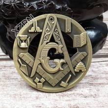 Masonic Auto Car Badge Emblems mason freemason BCM44 Compass And Square Tools hollow out 3D 3'' antique  technique personality