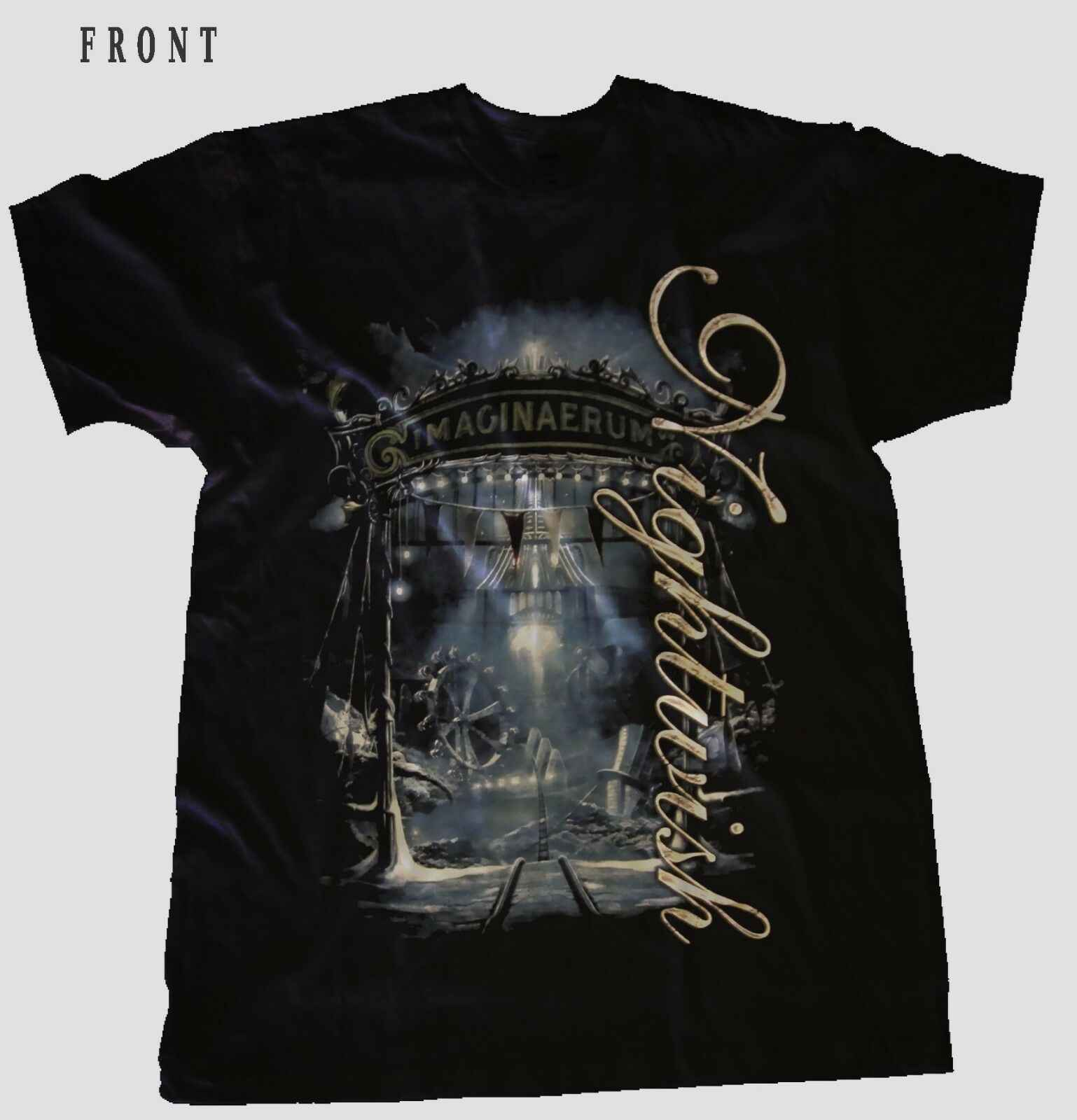 Nightwish-Imaginaerum-Symphonic Metal-Epica-Evanescence,T-เสื้อ-ขนาด: S ถึง 5XL แฟชั่นเสื้อยืด SLIM FIT O-Neck TOP TEE