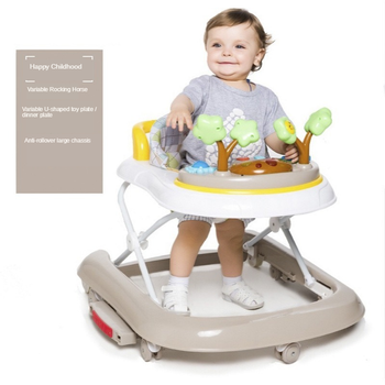 Baby Walker 6-24 Months Baby Anti-rollover Multi-function Children U-shaped Driving Folding with Music Without Battery new design baby walker multifunctional music plate u type folding easy anti rollover safety scooter baby walkers portable carry