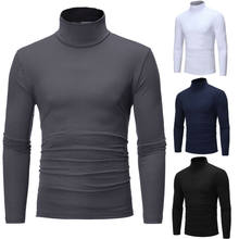 Hot Fashion Mens Sweater Solid Roll Turtle Neck Knitted Pullover Jumper Winter Male Fashion Casual Tops(China)