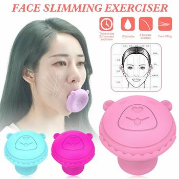 New Face Slimming Tool Face Lift Skin Firming V Shape Exerciser Instrument Cute Portable Anti Wrinkle Mouth Exercise Tool microcrystalline changes skin firming skin instrument electronic beauty instrument exfoliating tyra thin face v face