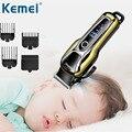 Kemei цифровой триммер для волос регулируемый шнур лезвие для бритья профессиональная перезаряжаемая керамическая машинка для стрижки волос...