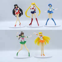 5 pcs 16.5cm Sailor Moon Figurine Break Time Figure Sailor Mars Mercury Venus Jupiter Action Figure Doll Toys Christmas gift