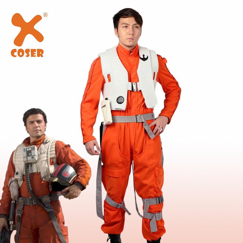 Star Wars Episode VIII The Last Jedi Deluxe Men/'s Poe Dameron Costume