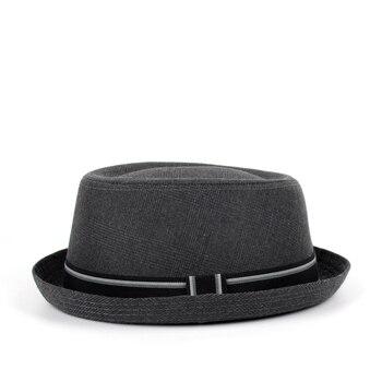 Men Fedora Hat Flat Pork Pie Hat For Gentleman Dad Bowler Porkpie Jazz Hat Big Size S M L XL