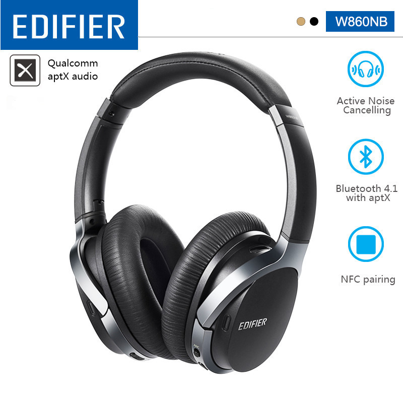 EDIFIER W860NB Bluetooth Headphone ANC Active Noise Canceling Touch Control 45h Working time Bluetooth V4.1 aptX Decoding|Bluetooth Earphones & Headphones| - AliExpress