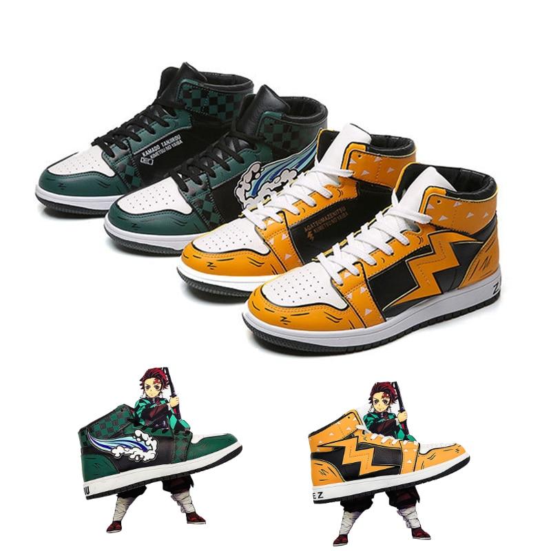 Unisex Kimetsu No Yaiba Agatsuma Zenitsu Shoes High top Sneaker ...