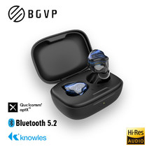 Bgvp q2s tecnologia híbrida tws 5.2 alta fidelidade sem fio bluetooth fones de ouvido esportes binaural em fones de ouvido jogos com microfone