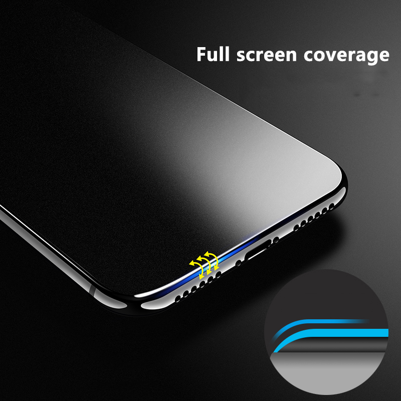9H Frosted Full Cover Tempered Glass Matte Screen Protector for iPhone 11 Pro 3