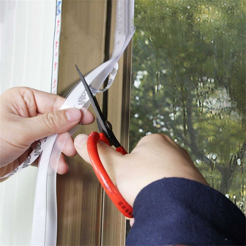 1 metro de borracha de silicone 25mm auto-adesivo porta janela tira de vedação à prova de poeira tira de vidro tira de porta de vidro tira inferior