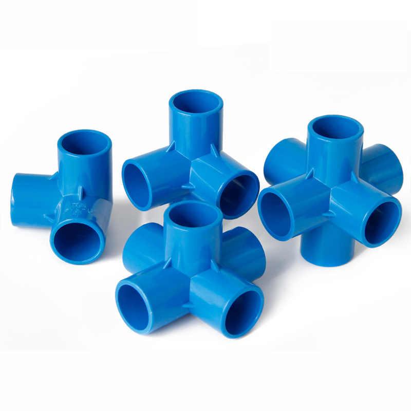 20mm 25mm 32mm 40mm 50mm ID 3 4 5 6 Manier Blauw PVC Buis Gezamenlijke pijp Koppeling Adapter Water Connector Voor Aquarium Fish Tank