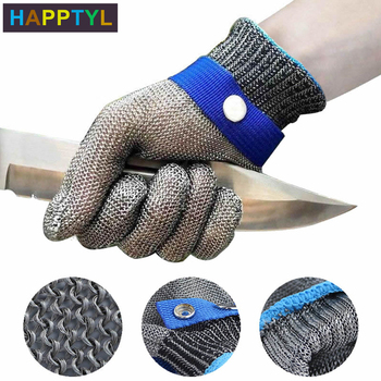 HAPPTYL 1Pcs Cut Proof Gloves Anti-cut Level 5 Safety Work Gloves Cut Resistant Gloves Safety Work Gloves 1 pair anti cut gloves cut proof stab resistant stainless steel level 5 protect industrial work safety gloves