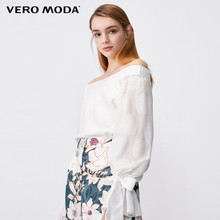 Vero Moda Women's Elastic Slash Neck Mulberry Silk Top | 319351511
