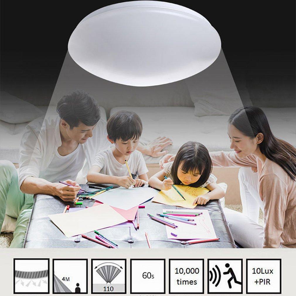 Hot Intelligente Voice Radar Gecontroleerde Inductie Plafondlamp Balkon Plafond Lamp Lichtregeling Gangpad Lamp Wc Night Lights