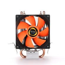 CPU Cooler Heatpipe Fans Quiet Heatsink Radiator Two Fine Copper Heat Pipes for Intel Core AMD Sempron Platform(China)