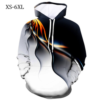 Men Streetwear Hoodie 3D Printed Lightning Man Hoodies Loose O-neck Autumn Mens Sweatshirt Clothing Poleron 3d Oversized