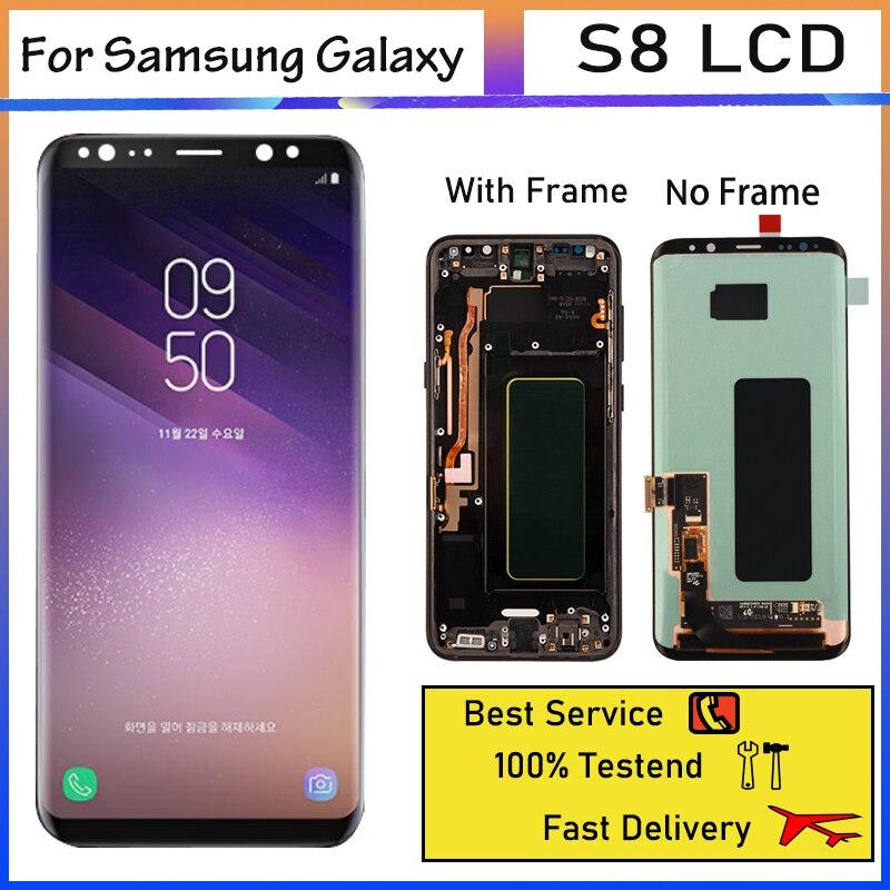 ЖК-дисплей 5,8 дюйма Super Amoled для SAMSUNG Galaxy S8 G950F G950FD, сенсорный экран с дигитайзером в сборе, запасные части