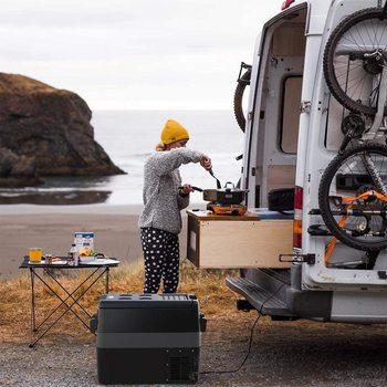Nevera portátil con compresor, ENVÍO DESDE ESPAÑA, Mini frigo de 50L, 32L, 40L, congelador, caravana, camión, refrigerador de viaje, 12/24V, 220V  2